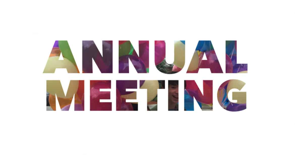 Annual meeting with people