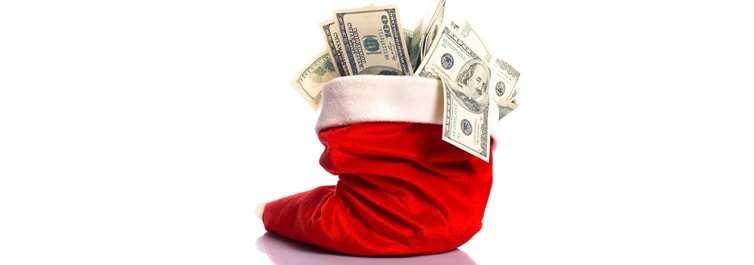 Holiday Loan Stocking Full of Cash