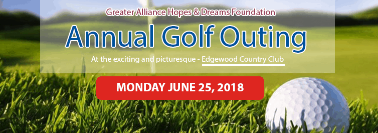 Annual Golf Outing June 2018 Home Page Banner