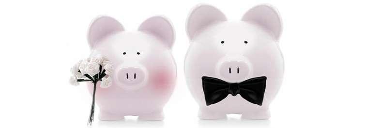 Piggy Banks Bride and Groom GAFCU Wedding Budget