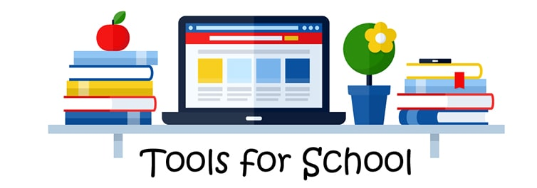 Tools for school landing page banner