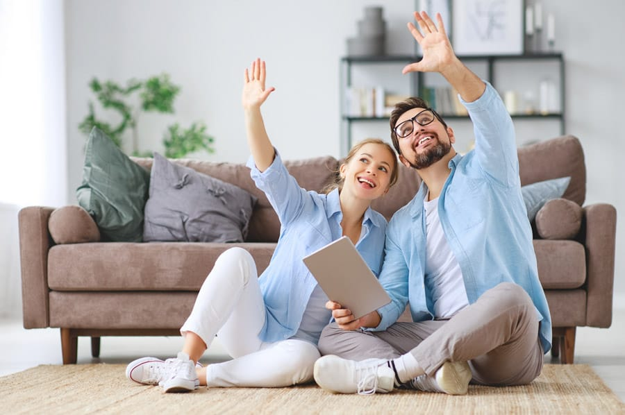 young couple envisioning home