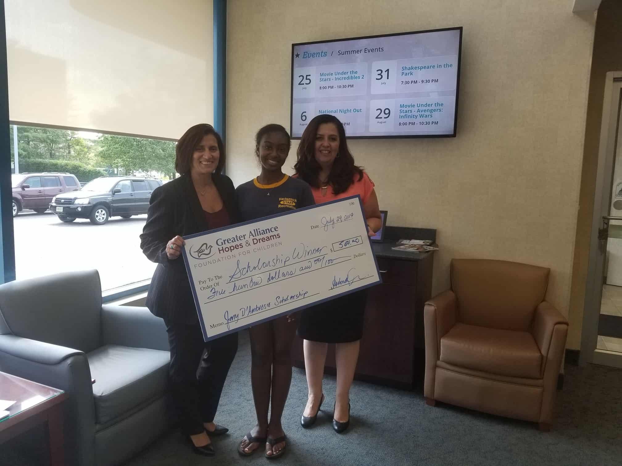 Hackensack Scholarship Winner
