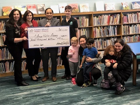 Donating funds to the local community library