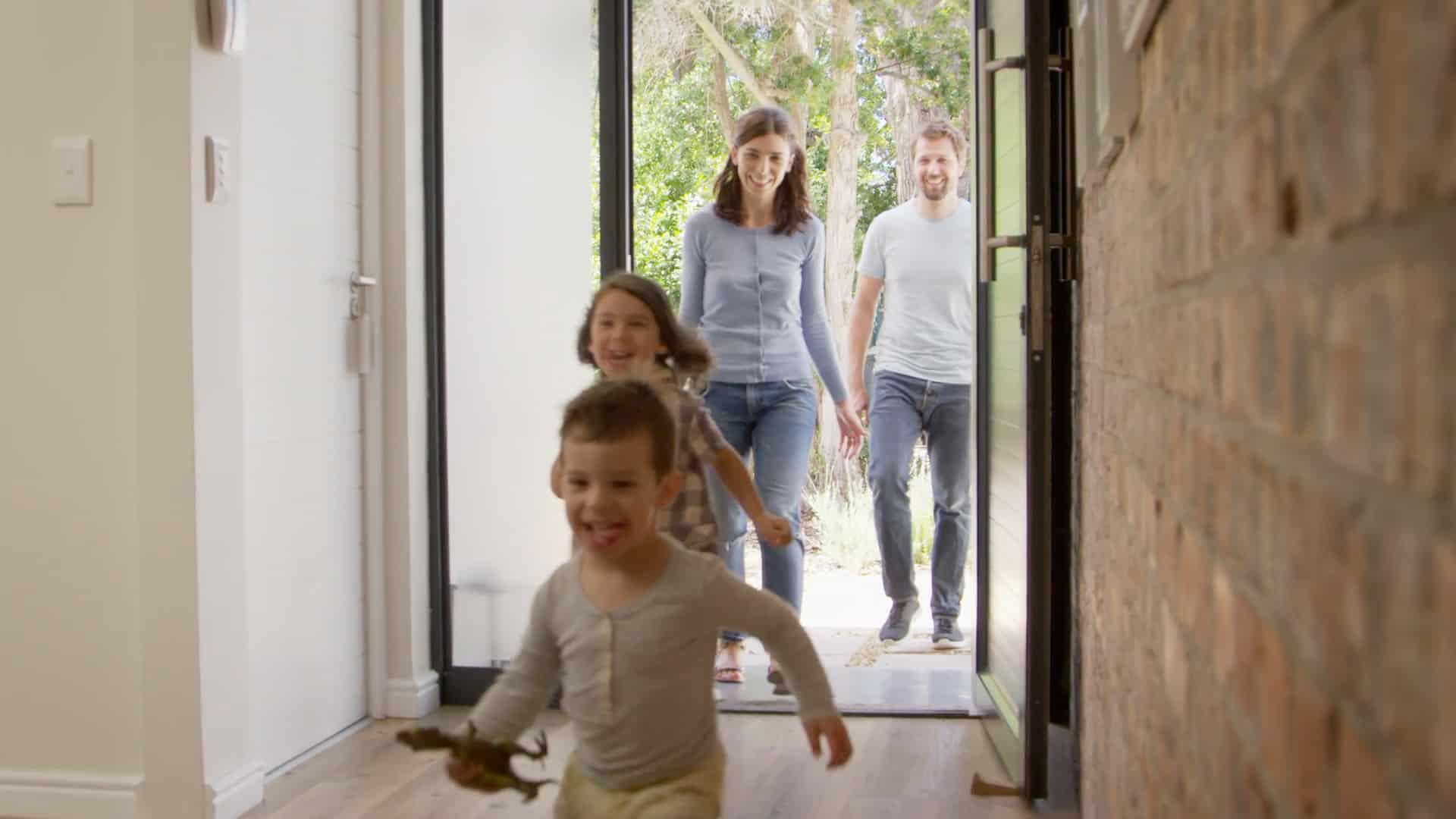 Family Returning Home