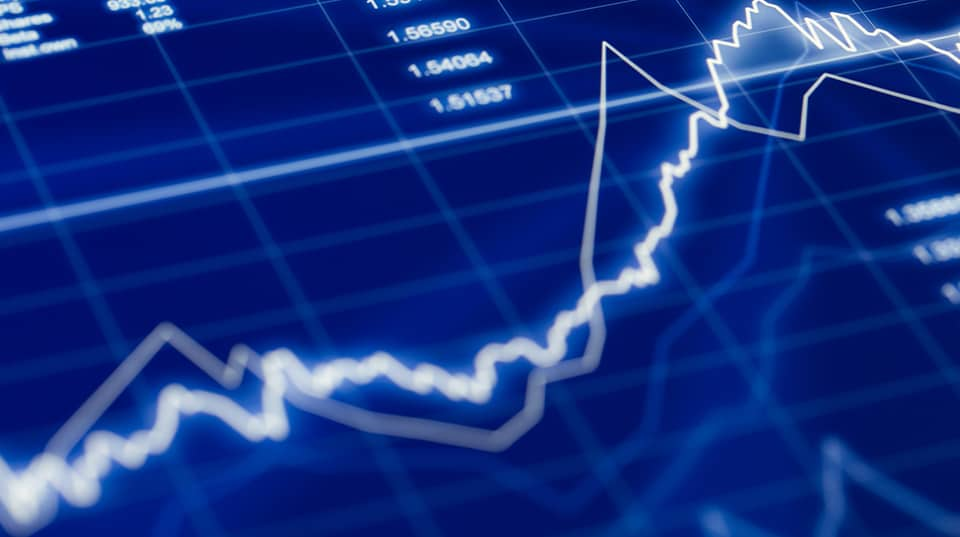 Stock market graph image