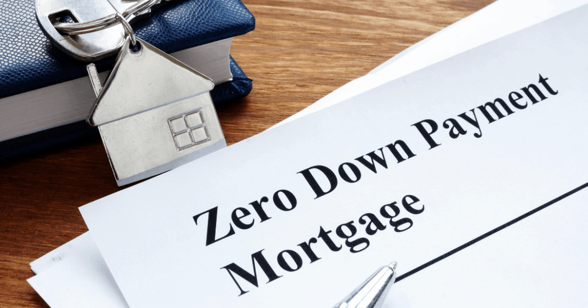 zero down payment mortgage document